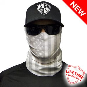 Whiteout American Flag Face Shield - Face Mask